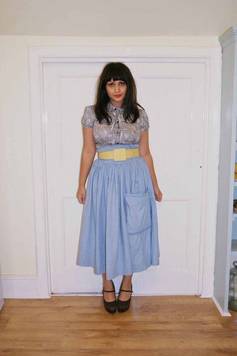 Denin full skirt