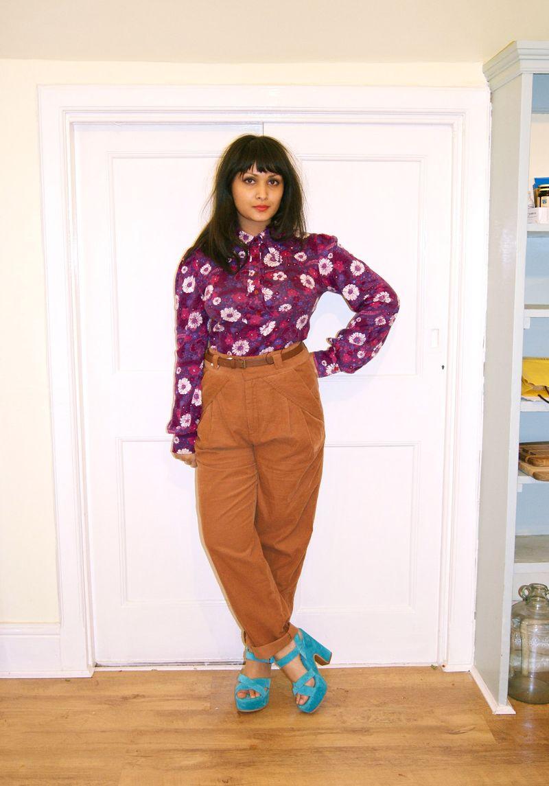 70s floral shirt