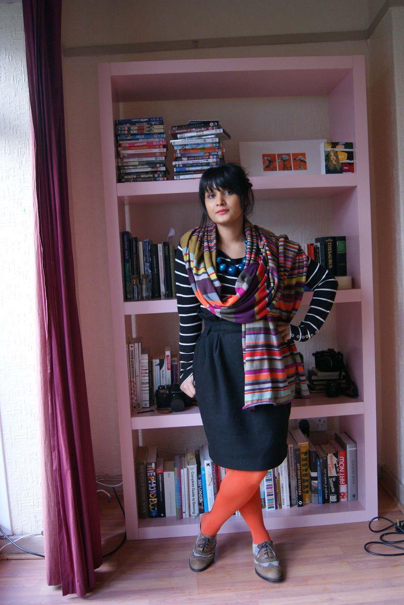 Mia Zia striped scarf