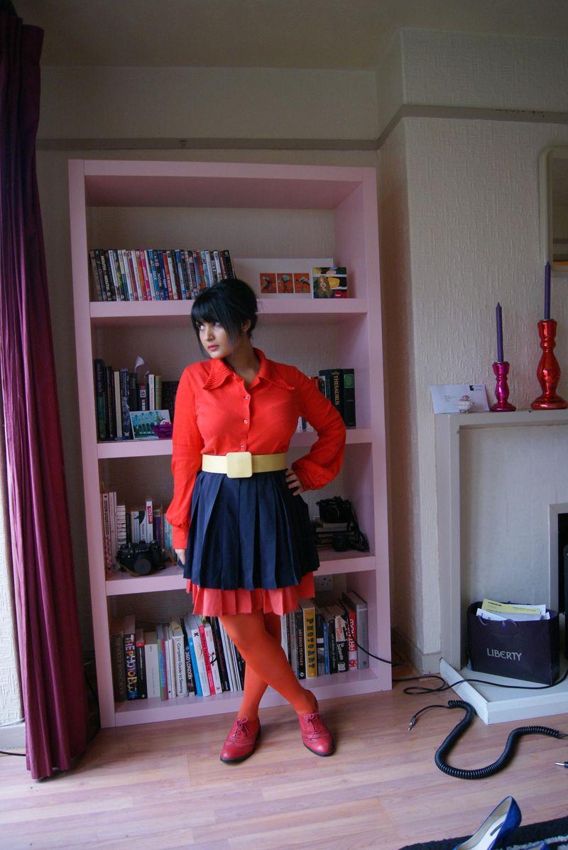 Orange bell sleeved shirt