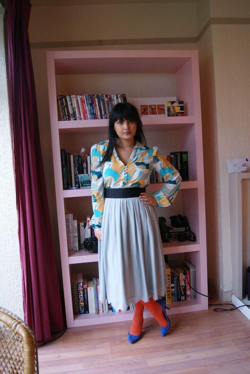 Mint chiffon skirt