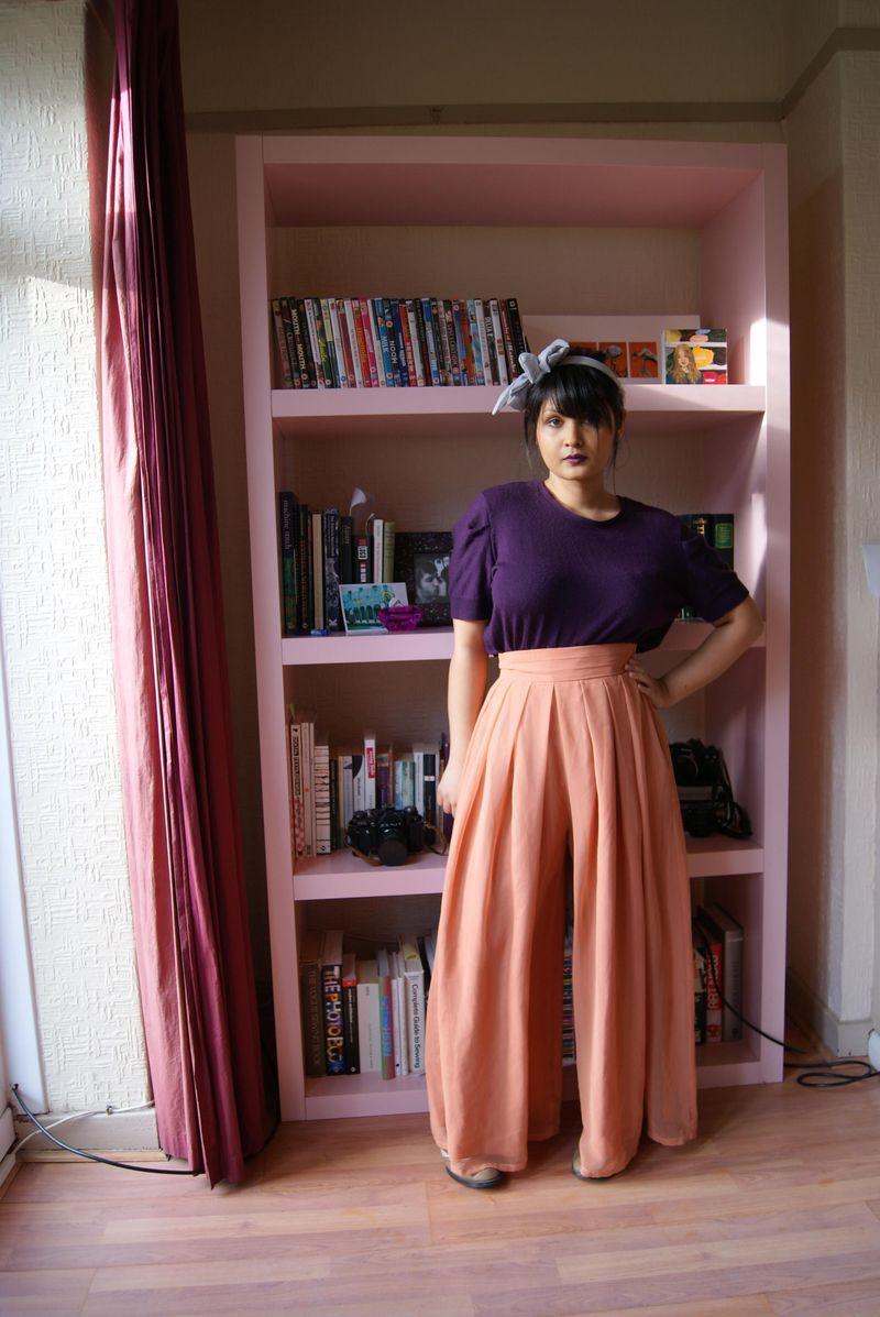 Peach trousers